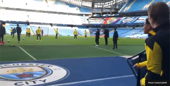 """""""Beautiful, huh?"""" Erling Haaland's reaction at the Etihad excites Man City fans"""
