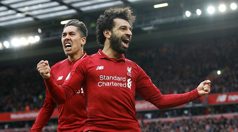 Image of Mo Salah celebrating against Tottenham