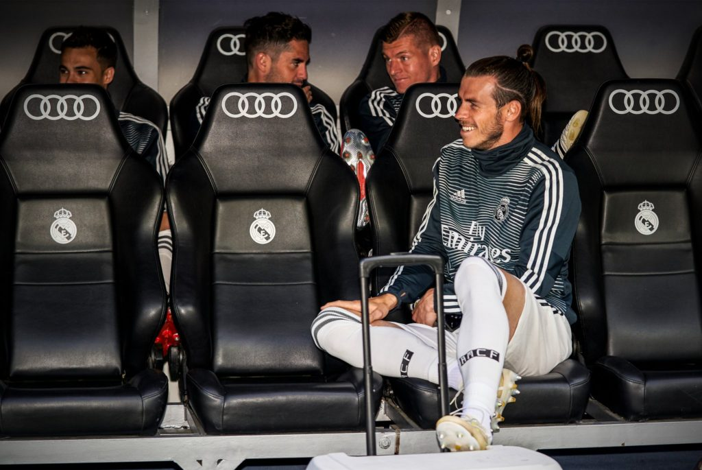 Gareth Bale on bench