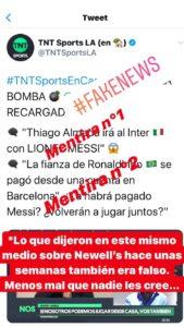 Messi denies Inter rumors