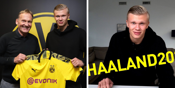 Official: Erling Haaland snubs Manchester United, signs for Borussia Dortmund