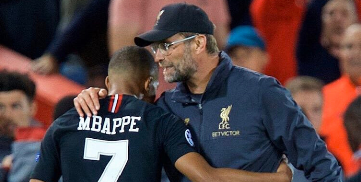 Liverpool set to battle Real Madrid for Kylian Mbappe Klopp