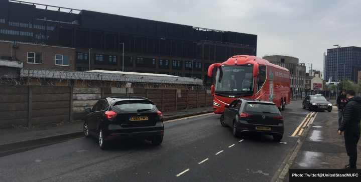 Liverpool used a decoy bus to avoid fan protests at Old Trafford