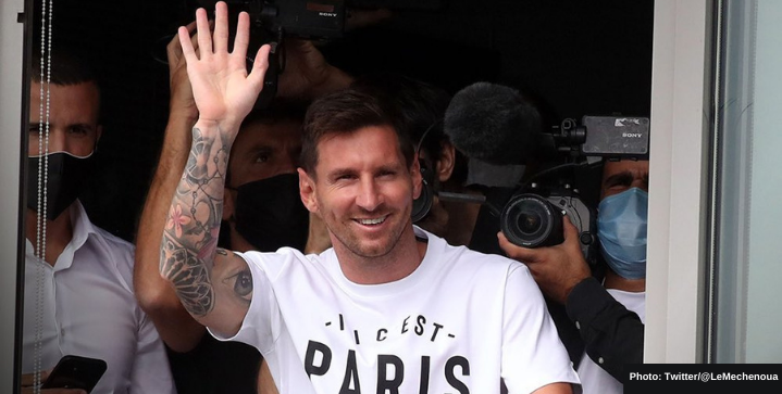 Messi touchdown in Paris, signing done and dusted