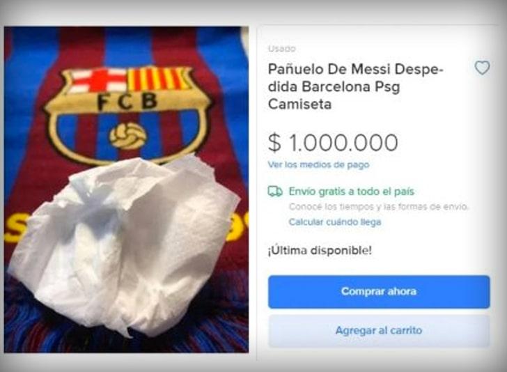 Messi tissue auction