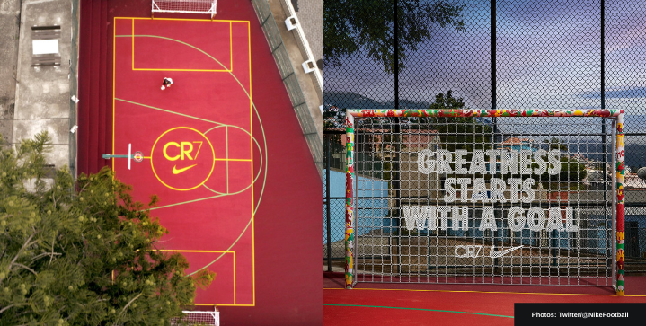 Nike unveils CR7-theme pitch in Portugal to celebrate the player's latest feat
