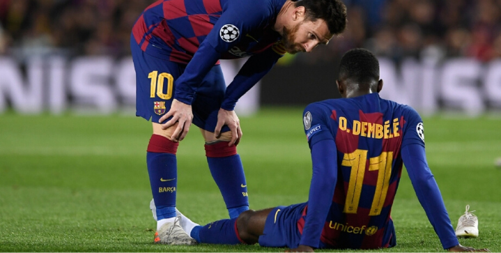 Ousmane Dembélé out 10 weeks with thigh injury, will miss El Clasico