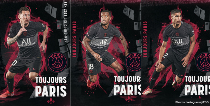 PSG unveils its new third kit featuring black Hechter Stripe