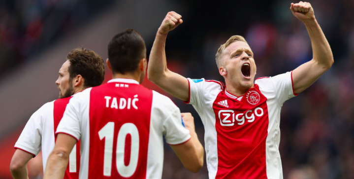 Real Madrid bid for Ajax midfielder Donny van de Beek for €55m
