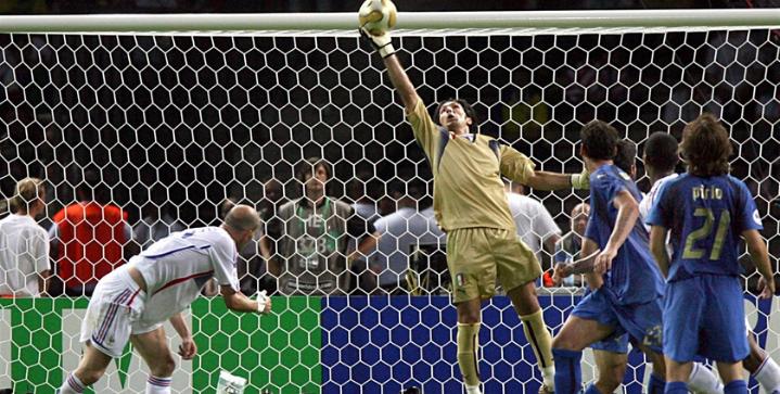 buffon save on zidane in world cup