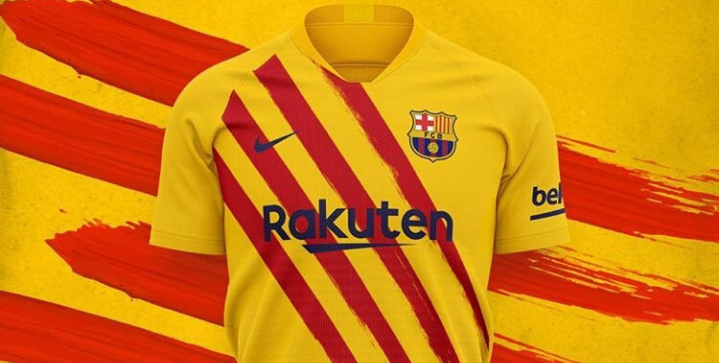 Barcelona Unveil New Fourth Kit Featuring Colors Of The Catalan Flag Soccergator